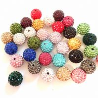 10 Mixed High Quality 8mm Shamballa Beads